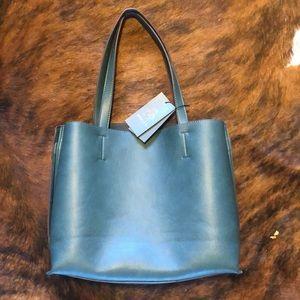 Street level dark green tote bag BNWT